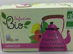 Bouleau Pissenlit Fleur d'hibiscus Menthe poivrée bio