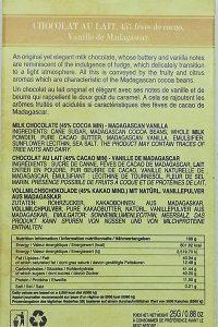 Chocolat au lait vanille (mini)